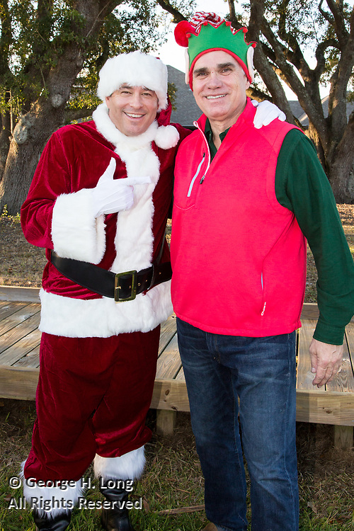 Todd Graves and Tommy Cvitanovich; Happy Santa delivery of toys and gifts to residents and employees of Padua Community Services in Belle Chasse, Louisiana on December 4, 2017; Louisiana Restaurant Association