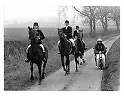 Quorn Hunt.11 November 1983. film 83813f25<br /> &copy; Copyright Photograph by Dafydd Jones<br /> 66 Stockwell Park Rd. London SW9 0DA<br /> Tel 0171 733 0108