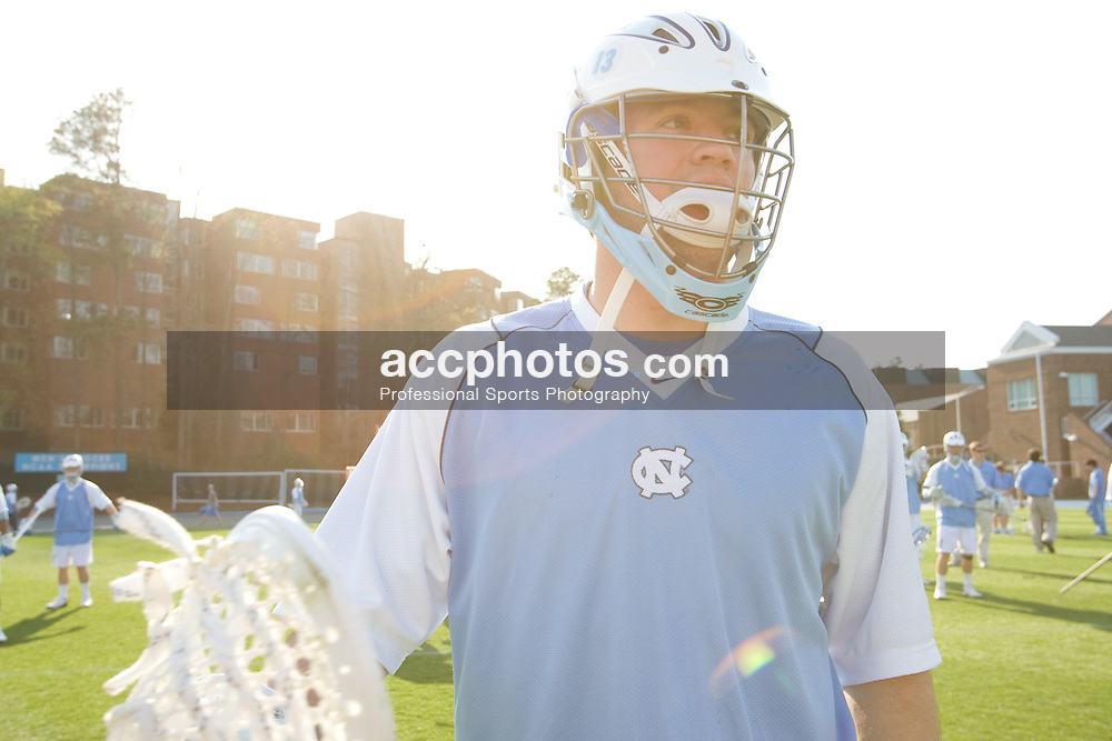 22 March 2008: North Carolina Tar Heels midfielder Bobby McAuley (43) before playing the Maryland Terrapins at Fetzer Field in Chapel Hill, NC.