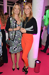 Left to right, LUCY SANGSTER and her daughter ELIZA SANGSTER at Light Up Your Life - a party hosted by Lillingston held at Lights of Soho, 35 Brewer Street, London on 1st October 2015.