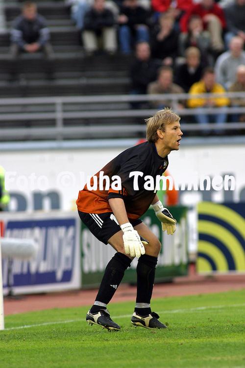 07.06.2003, Olympic Stadium, Helsinki, Finland..UEFA European Championship Qualifying match, Group 9, Finland v Serbia-Montenegro.Jussi J??skel?inen - Finland.©Juha Tamminen