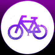 Famous humourous quotes series: Glowing neon bicycle sign.
