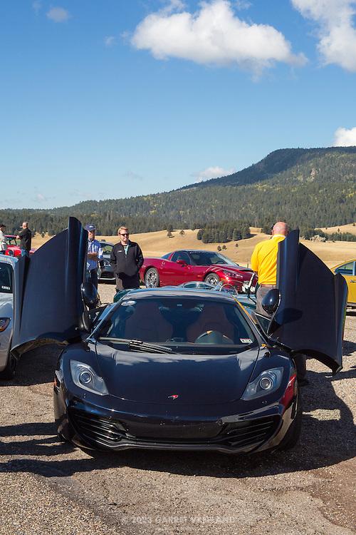 McLaren looks ready to take off. 2012 Santa Fe Concorso High Mountain Tour.