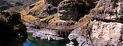 PERU, ALTIPLANO, INCA Inca bridge over Apurimac River