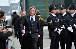© Licensed to London News Pictures. 17 April 2013. St Paul's Cathedral London. David Mellor. Funeral of Baroness Thatcher, former Conservative Prime Minister. Photo credit : MarkHemsworth/LNP
