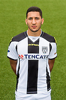 Fahd Aktaou of Heracles Almelo during the team photocall of Heracles on July 20, 2015 at the Polman stadium in Almelo, The Netherlands.