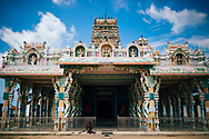 The Kannakai Amman Temple on Punkudutivu island on the Jaffna Peninsula, Sri Lanka, Asia