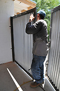 Fine-tuning the positioning of the gate panels.