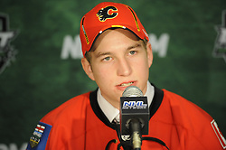 Sven Baertschi of the Portland Winterhawks was selected by the Calgary Flames in the 2011 NHL Entry Draft in St. Paul, MN on Friday June 24. Photo by Aaron Bell/CHL Images
