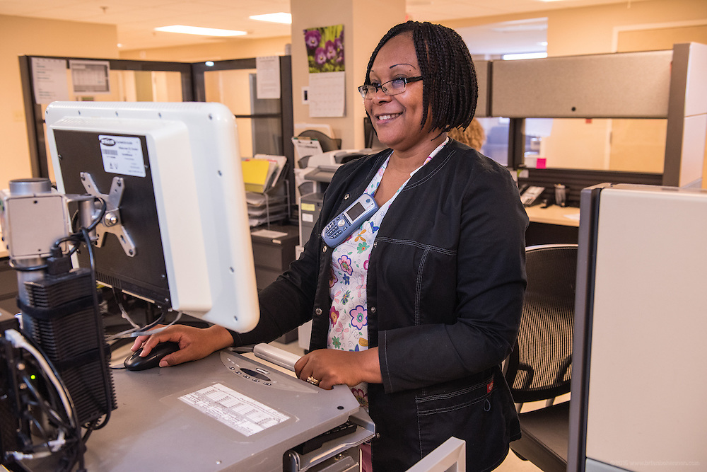 Chidi Anyanwu, RN, photographed Wednesday, May 20, 2015, at Baptist Health in Richmond, Ky. (Photo by Brian Bohannon/Videobred for Baptist Health)