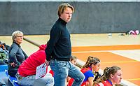 AMSTERDAM  - coach  Mark-Jan Derksen (SCHC)  tijdens het starttoernooi zaalhockey in Sporthallen Zuid.    COPYRIGHT KOEN SUYK