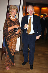 PRINCESS ISABELLA DUCHESS OF RATIBOR and LORD ROTHSCHILD at a dinner hosted by Asprey at their store at 167 New Bond Street, London W1 on 12th July 2005.<br />