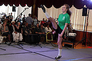 Kristen Mackay of the UD Irish Dance Club performs during the University of Dayton International Festival in UD's Kennedy Union Ballroom in Dayton, Saturday, March 24, 2012.