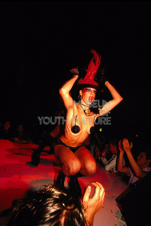 Performer at a Playboy sponsored night club in Amsterdam, 2000's