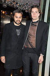 Left to right, PABLO GANGULI and TOMAS AUKSAS at W London - Leicester Square for the Liberatum Cultural Honour in Spice Market for John Hurt, CBE in association with artist Svetlana K-Lié on 10th April 2013.