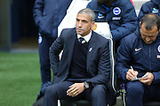 Brighton Manager Chris Hughton during the Sky Bet Championship match between Brighton and Hove Albion and Preston North End at the American Express Community Stadium, Brighton and Hove, England on 24 October 2015. Photo by Phil Duncan.