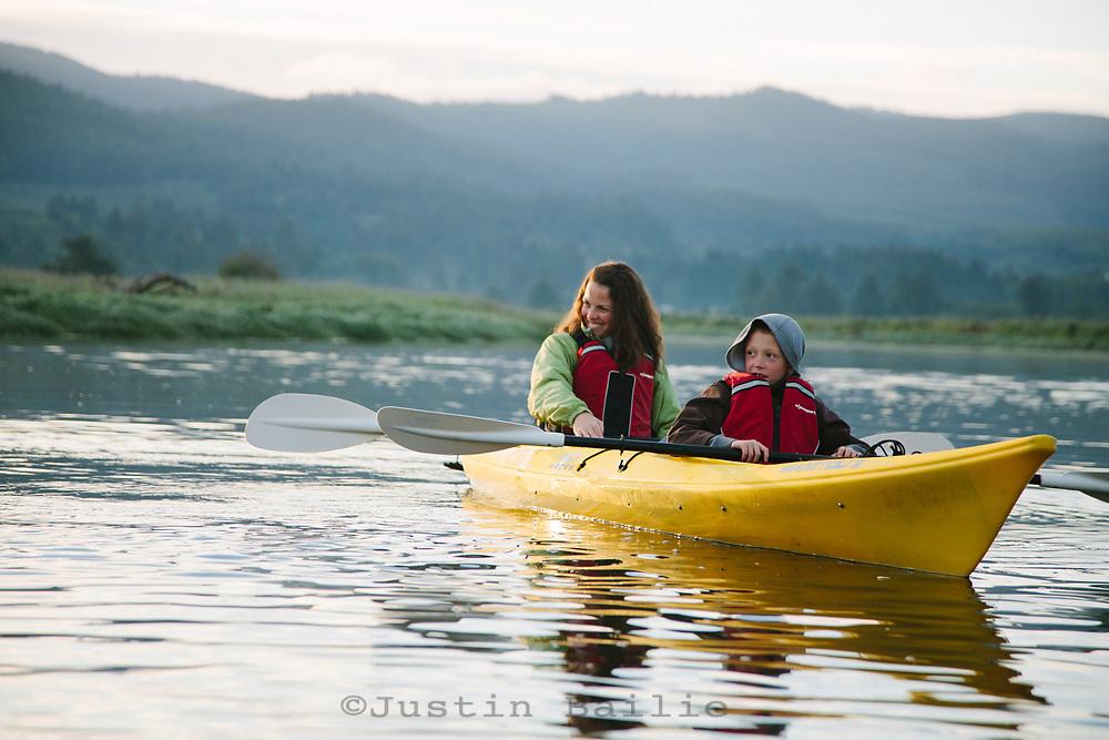 Kayaking along the Little Nestucca River, OR Model released.