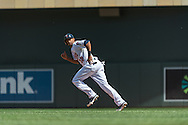 Aaron Hicks #32 of the Minnesota Twins runs to 2nd base during a game against the Seattle Mariners on June 2, 2013 at Target Field in Minneapolis, Minnesota.  The Twins defeated the Mariners 10 to 0.  Photo: Ben Krause