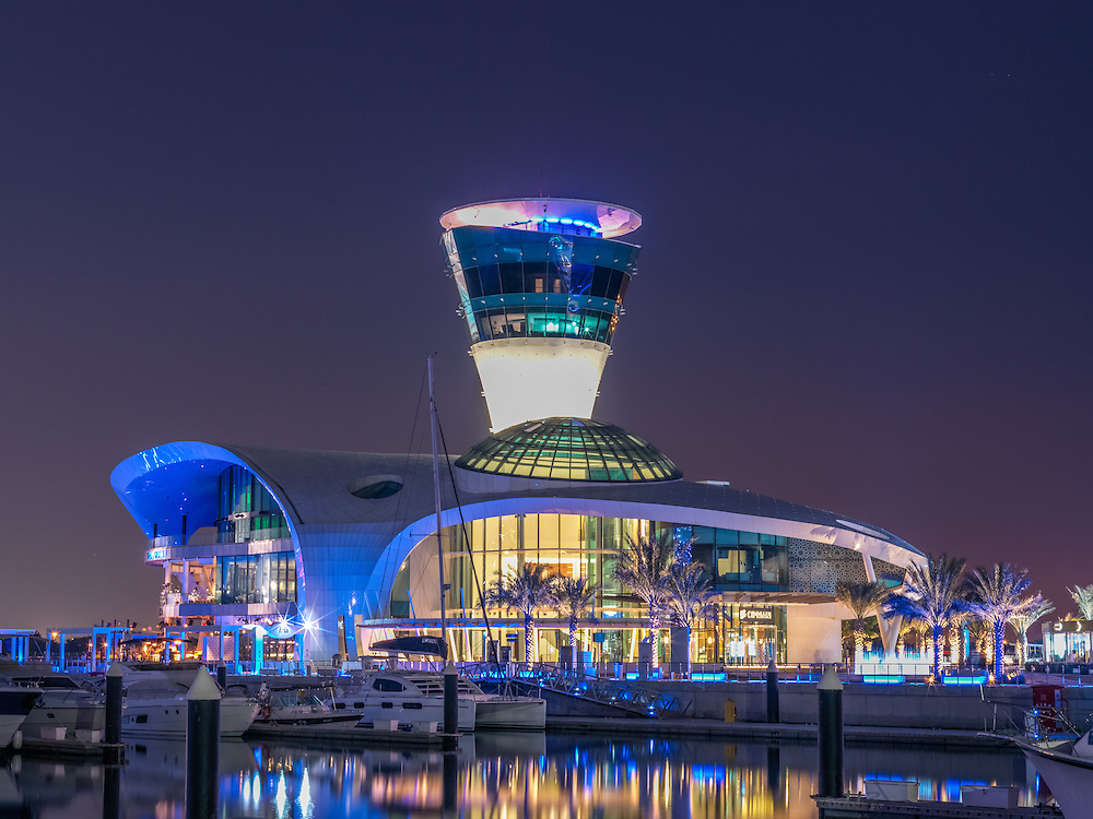 Main Building at the Yas Marina Bay area
