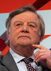 """© under license to London News Pictures. 06/03/2011: Kenneth Clarke on the """"No2AV"""" panel discussion at the Conservative Party's Spring Forum in Cardiff. Credit should read """"Joel Goodman/London News Pictures""""."""