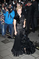 Gillian Anderson, Harper's Bazaar Women of the Year Awards, Claridge's Hotel, London UK, 05 November 2013, Photo by Richard Goldschmidt © Licensed to London News Pictures. Photo credit : Richard Goldschmidt/Piqtured/LNP