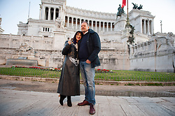 Asia Argento special guest. Performance of the actress dedicated to the exhibition of the tattoo artist Marco Manzo at the Vittoriano museum in Rome. in the photo Asia Argento, Marco Manzo