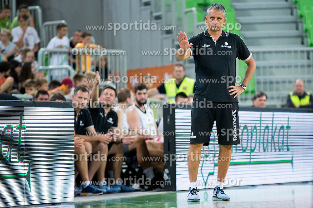 Igor Kokoskov, head coach of Slovenia during friendly basketball match between National teams of Slovenia and G. Britain, on August 20, 2016 in Arena Stozice, Ljubljana, Slovenia. Photo by Urban Urbanc / Sportida