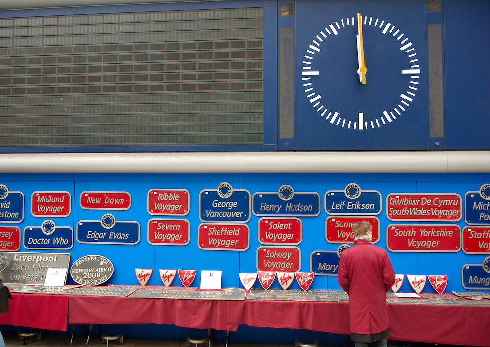 London Feb 14  Virgin Trains nameplates auction at Waterloo  Station in London on feb 14 2009...Standard Licence feee's apply  to all image usage.Marco Secchi - Xianpix tel +44 (0) 845 050 6211 .e-mail ms@msecchi.com .http://www.marcosecchi.com