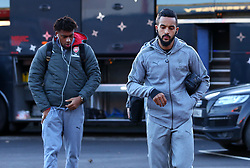 Theo Walcott and Alex Iwobi of Arsenal arrives at The City Ground ahead of the FA Cup Third Round tie with Nottingham Forest - Mandatory by-line: Robbie Stephenson/JMP - 07/01/2018 - FOOTBALL - The City Ground - Nottingham, England - Nottingham Forest v Arsenal - Emirates FA Cup third round proper