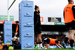 Harry Williams of Exeter Chiefs warms up prior to kick off - Mandatory by-line: Ryan Hiscott/JMP - 29/12/2019 - RUGBY - Sandy Park - Exeter, England - Exeter Chiefs v Saracens - Gallagher Premiership Rugby