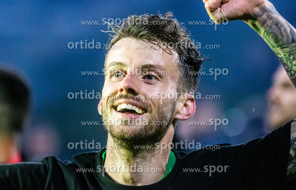 Suljic Asmir of NK Olimpija Ljubljana celebrates after a football game between NK Olimpija Ljubljana and NK Maribor in Final Round (18/19)  of Pokal Slovenije 2018/19, on 30th of May, 2014 in Arena Z'dezele, Ljubljana, Slovenia. Photo by Matic Ritonja / Sportida