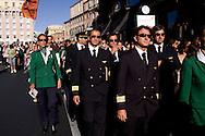Roma 15 Settembre 2008..Manifestazione dei piloti,hostess e lavarotori dell'Alitalia contro la vendita della società .Air hostesses, pilots and employees of Italy's flag carrier Alitalia march during a demonstration .
