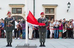 07.07.2016, Präsidentschaftskanzlei, Wien, AUT, Militärischer Festakt anlässlich der Beendigung der Amtszeit von Bundespräsident Fischer, im Bild TEXT // during the military farewell ceremony for the federal president of austria in Vienna, Austria on 2016/07/07, EXPA Pictures © 2016, PhotoCredit: EXPA/ Michael Gruber