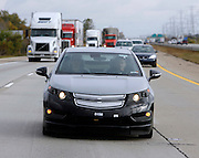 The pre-production Chevrolet Volt engineering test drive along I-275 near Monroe, Michigan Tuesday, October 13, 2009.
