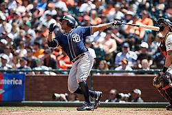 SAN FRANCISCO, CA - MAY 25: Yangervis Solarte #26 of the San Diego Padres hits a two run home run against the San Francisco Giants during the eighth inning at AT&T Park on May 25, 2016 in San Francisco, California.  (Photo by Jason O. Watson/Getty Images) *** Local Caption *** Yangervis Solarte