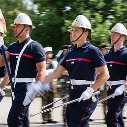 Préparatifs et répétition finale au camp de Satory du défilé à pied du 14 juillet 2018 « Fraternité d'armes sous l'uniforme, l'engagement d'une vie ».<br /> Juillet 2018 / Versailles (78) / FRANCE<br /> Voir le reportage complet (125 photos) https://sandrachenugodefroy.photoshelter.com/gallery/2018-07-Repetition-generale-du-defile-a-pied-du-14-juillet-Complet/G0000lJYfswMGfgk/C0000yuz5WpdBLSQ