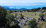 View from the summit of Takaka Hill, across the Tasman Bay of the South island of New Zealand.