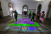 Kassel, Germany. Opening days of documenta14.<br /> Fridericianum.<br /> Nikos Alexia: The End (2007)