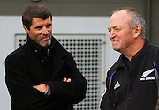 Irish soccer legend Roy Keane and All Black coach Graham Henry.<br /> All Blacks Training Session at Rugby League Park, Newtown, Wellington. Tuesday 3 June 2008. Photo: Dave Lintott/PHOTOSPORT