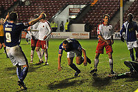 Photo: Tony Oudot/Richard Lane Photography. Walsall v Milwall. Coca-Cola Football League One. 13/12/2008. <br /> Andrew Frampton of Millwall celebrates with Neil Harris after scoring a last minute winning goal