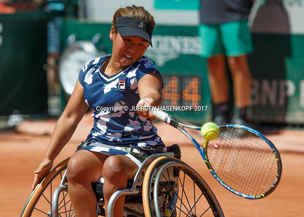Yui Kamiji (JPN), Womens Wheelchair Tennis Final<br /> <br /> Tennis - French Open 2017 - Grand Slam / ATP / WTA / ITF -  Roland Garros - Paris -  - France  - 10 June 2017.