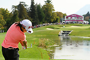 Nasa Hataoka (Jap) competes during the final round of LPGA Evian Championship 2018, Day 7, at Evian Resort Golf Club, in Evian-Les-Bains, France, on September 16, 2018, Photo Philippe Millereau / KMSP / ProSportsImages / DPPI