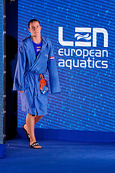 Nomi Stomphorst #6 of Netherlands during the semi final Netherlands vs Russia on LEN European Aquatics Waterpolo January 23, 2020 in Duna Arena in Budapest, Hungary