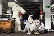 UNITED KINGDOM, London: 26 May 2019 <br /> The Smith family (father Jason, mother Caroline and son Lachlan aged 7) get dressed in their impressive home-made Star Wars cosplay outfits in the car park before making their way into London ExCeL during the final day of the MCM London Comic Con. The three day comic convention is being held at London ExCeL from Fri 24th - Sun 26th of May.