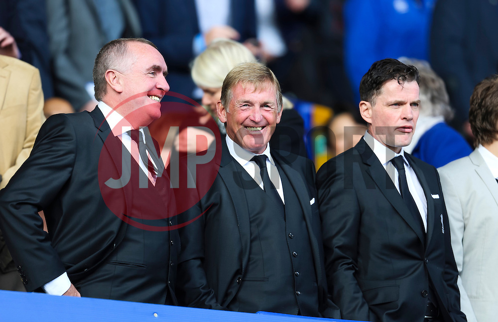 Kenny Dalglish watches from the stands - Mandatory byline: Matt McNulty/JMP - 07966 386802 - 04/10/2015 - FOOTBALL - Goodison Park - Liverpool, England - Everton  v Liverpool - Barclays Premier League