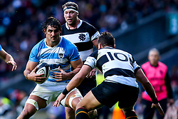 Pablo Matera of Argentina takes on Handre Pollard of Barbarians - Mandatory by-line: Robbie Stephenson/JMP - 01/12/2018 - RUGBY - Twickenham Stadium - London, England - Barbarians v Argentina - Killick Cup
