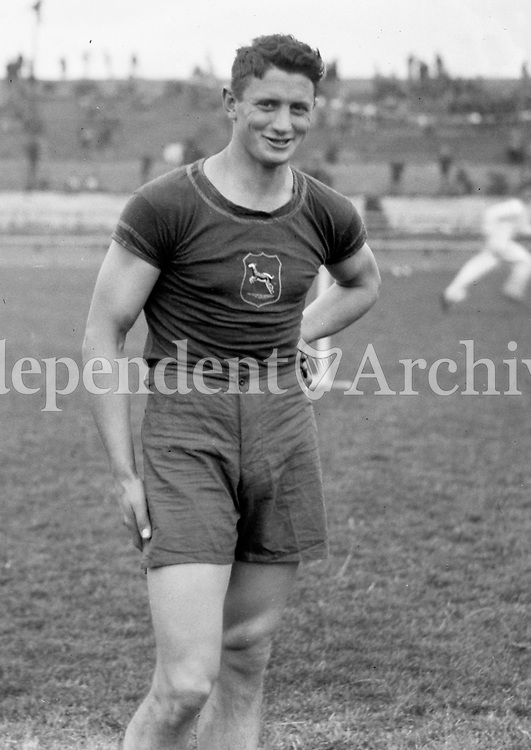H910<br /> Aonach Tailteann Athletics - Croke Park. H.B. Hart, South Africa who won the Decathalon.16/8/1928. (Part of the Independent Newspapers Ireland/NLI Collection)