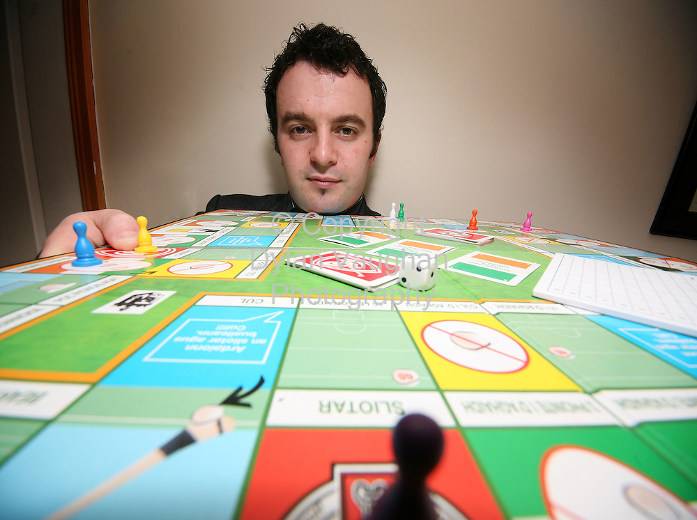30/11/2006.Gareth Hanlon of League Leader pictured with one of his board games in Kilkenny..Picture Dylan Vaughan.