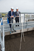 Repro Free:  Minister Simon Coveney was in Kinvara today to officially open the new wastewater treatment plant which was constructed following an investment of €5.1 million by Irish Water with the seamus Granahan Irish Water. Photo:Andrew Downes, xposure