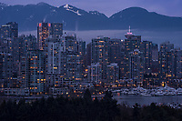 Downtown Vancouver & Coast Mountains, Morning